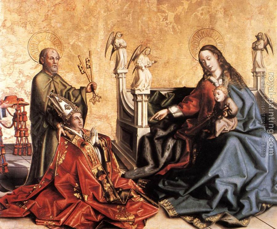 Konrad Witz : Presentation of Cardinal de Mies to the Virgin